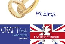 #CRAFTfest - Weddings Category - Sept 2016 / International sellers with stalls in the Weddings category of the September #CRAFTfest Event share with us their creations. http://www.craftfest-events.com/uk-events.html and http://www.craftfest-events.com/pride-of-america-form.html