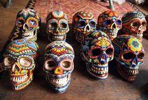Skulls in Art / Artistic renderings of skulls and skulls in art. Memento mori; the death's head figure, sugar skulls and more.
