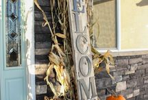 Fall Porch by Season in a Trunk