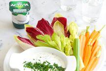 Apéritif dînatoire / Recettes de sauces à base d'Activia Nature pour votre apéritif dînatoire.