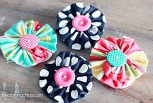 Making flowers & ribbons