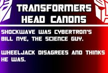 Bland Transformers Head Canons