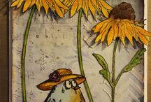 Tim Holtz Flower Garden