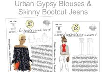 Inspiration: Urban Gypsy Blouses & Skinny Bootcut Jeans / ...a cool off-the-shoulder blouse, plus a killer pair of shapely jeans; wear them together or mix them with your favorite separates...
