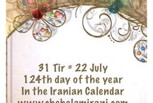 31 Tir = 22 July / 124th day of the year In the Iranian Calendar www.chehelamirani.com