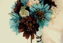 Brown and Blue wedding inspiration