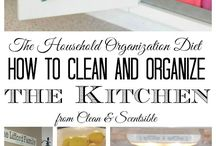 Clean and organize kitchen