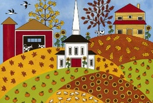 Folk Art & Country / To inspire my country appliqué designs