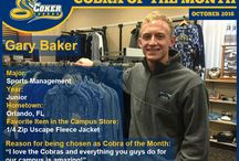 October 2016 Coker Bookstore Cobra of the Month Gary Baker / I love the Cobras and everything you guys do for our campus is amazing!