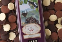 We Love Wine & Chocolate! / Wine Lover's chocolate disks are the perfect accompaniment for your favorite wines. Match cabernet, zinfandel, chardonnay, port or merlot with Wine Lover's chocolates of different cocoa percentages. Entice your palate.