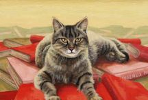 Sandy B--Cat Art  2 / I had no idea that there was so much wonderful cat art.  It needs a second board. / by Sandra Belisle