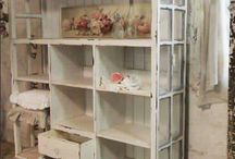book/storage shelves