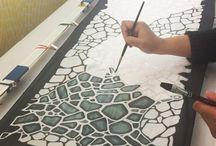 Textil painting ruhafestés