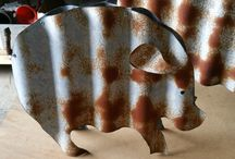 Corrugated Iron Animals
