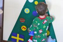 Kids felt Christmas tree