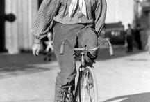 Famous people on bikes