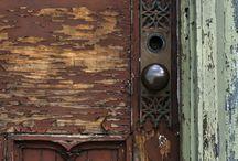 Wooden doors vintage