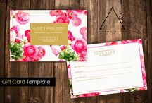 Business Card & Gift Card Templates / Pre-made designed templates to help brand your photography or small business. Fully customizable and compatible with Photoshop.