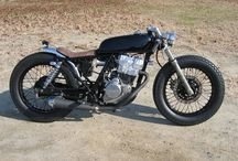 Two wheels  / Custom motorcycle, cafe racer bobber rocket / by Nicolas Perez