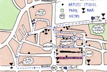 Sonja Bajic maps and cities / Hand drawn maps and diagrams of cities. Discover a new view of a city through illustration. You'll find Paris maps as well as maps of other famous places.