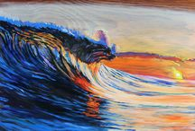 My paintings / Portraits and ocean inspired oil paintings on wood