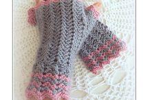háčkování-rukavice