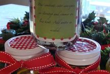 Christmas scent..paint letters..tabledecor