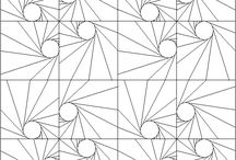 Fabric foundation pattern ideas / Fabric foundation quilting patterns
