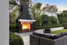 Gardens / Fireplace -topiary