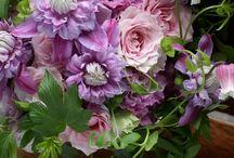 Mauve shades wedding bouquets