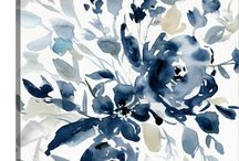Blue Abstract Art / 0