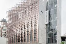 Fixed shading facade systems