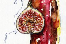 Food Art Illustrations