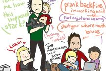 Avengers / Mostly Bucky and Loki. with a little of the other guys mixed in.  / by Kassidy Kelsch