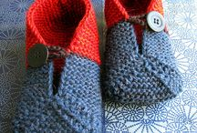 Knitted and Crocheted Slippers Adult and Child