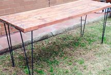 Tables / Starting with pre-loved or even discarded materials a new use can be created; Tables