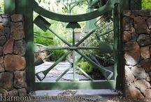 Garden Gates / DIfferent styles and materials for garden gates.