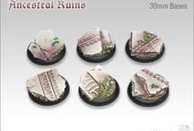 Base set - Ancestral Ruins / The bases of the Ancestral Ruins set are available as round, roundlip and square bases.