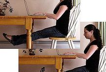 Workout at work / Exercises that can be done at work. May need to be adapted.