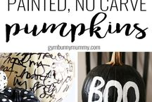 No carve pumpkin ideas / I don't know about you - but I HATE carving pumpkins! So this board has a colelction of amazing NO CARVE pumpkin decoration ideas - perfect for kids and the little tiny ones too!