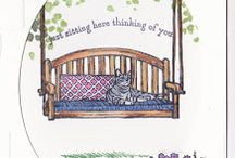 SU Sitting Here / To order your Stampin' Up! products see me at http://www.stampinup.net/esuite/home/cparsons/
