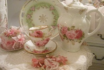 All the tea...AND China / Tea, tea sets, cups, pretty china / by Barbara Romine