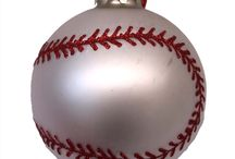 Football and Baseball Christmas Ornaments / by Just Her Sports