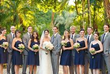 Navy Blue and Gray Wedding Color Inspirations