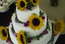 cakes with sunflowers / by Joan Mclain