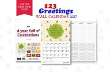 Our first offline product – a wall calendar for 2017!! / In addition to delivering exceptional ecards to our users for almost two decades, 123Greetings now launches its first offline product – a holidays and events wall calendar for 2017. With the same heady mix of everyday celebrations, special events, wacky and fun occasions, you would certainly have a reason to celebrate all year long. Buy now at a special introductory price of $14.95 ~ bit.ly/2fckQLS