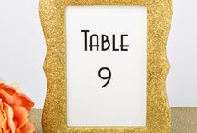 Stunning Gold Photo/Table Number Frames-a Gorgeous Gift or Favor