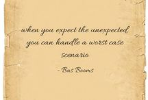 inspirational quotes / expect the unexpected