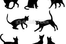 * CAT SILHOUETTE *