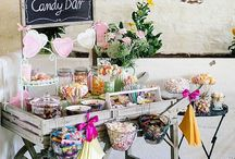 SWEETS AND TREATS / A cute lolly bar or donut wall is the perfect snacking station for you and your guests, adding a pop of colour to your wedding reception.